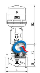 电动单座调节阀配3810L执行器尺寸图