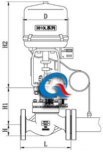 电动温度调节阀(配3810L执行器)