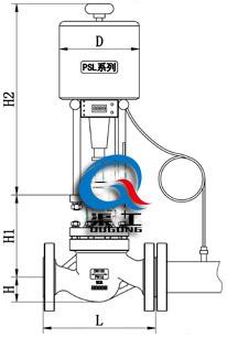 电动温度调节阀(配PSL执行器)