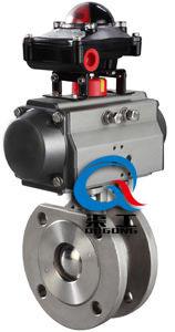 Q671气动对夹球阀  Q671气动超薄球阀