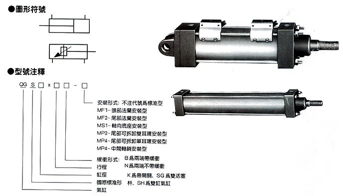 qgb直行程气缸图片